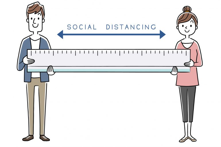 距離の確保